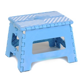Light Blue Striped Step Stool