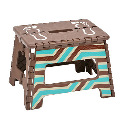 Brown Striped Step Stool