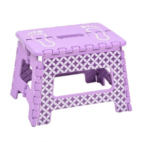 Purple Diamond Circle Step Stool