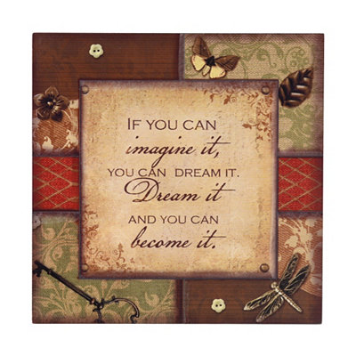 Imagine & Dream Plaque
