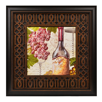 Botanical Wine I Framed Art Print