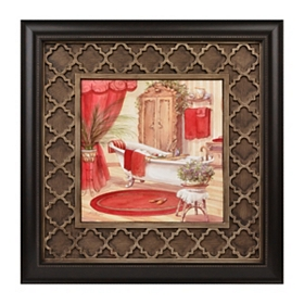 Red Victorian Bath II Framed Art Print