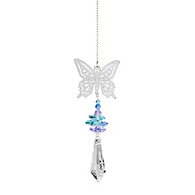 Crystal Butterfly Wind Chime