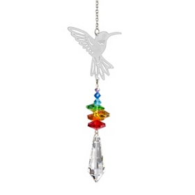 Crystal Hummingbird Wind Chime