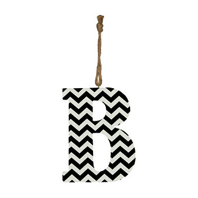 Black Chevron Monogram B Hanging Letter