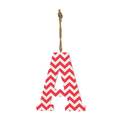 Pink Chevron Monogram A Hanging Letter