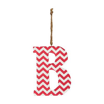 Pink Chevron Monogram B Hanging Letter