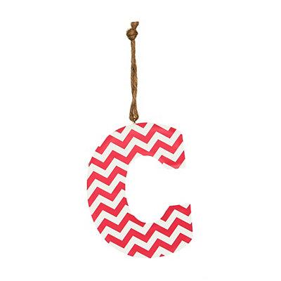 Pink Chevron Monogram C Hanging Letter