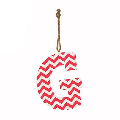 Pink Chevron Monogram G Hanging Letter