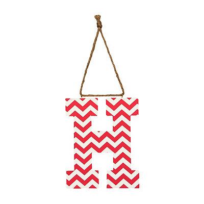 Pink Chevron Monogram H Hanging Letter