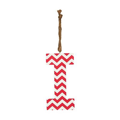 Pink Chevron Monogram I Hanging Letter