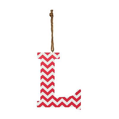 Pink Chevron Monogram L Hanging Letter