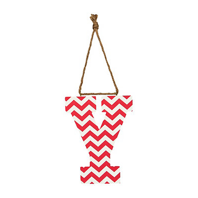 Pink Chevron Monogram Y Hanging Letter