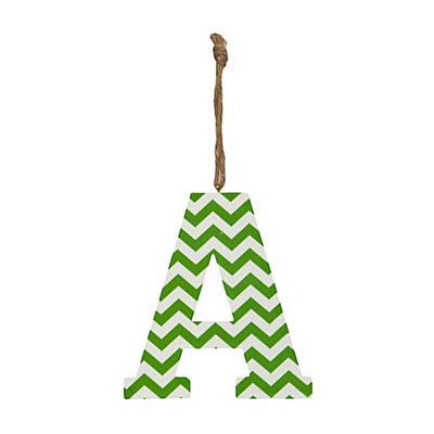 Green Chevron Monogram A Hanging Letter