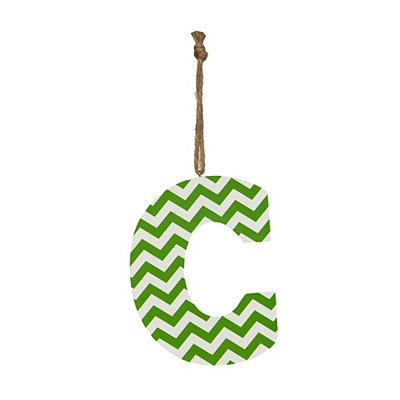 Green Chevron Monogram C Hanging Letter