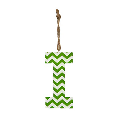 Green Chevron Monogram I Hanging Letter