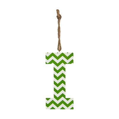 Green Chevron Monogram I Hanging Letter