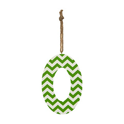 Green Chevron Monogram O Hanging Letter