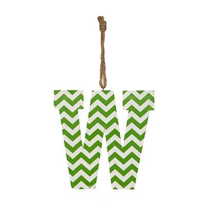 Green Chevron Monogram W Hanging Letter