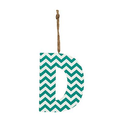 Turquoise Chevron Monogram D Hanging Letter