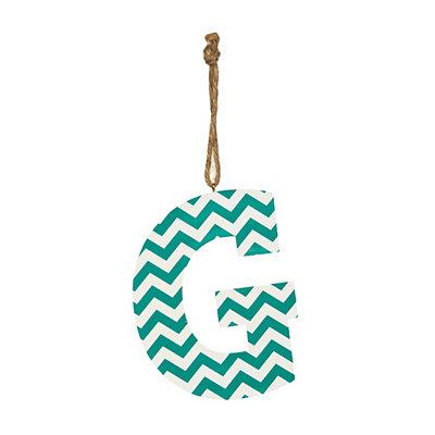 Turquoise Chevron Monogram G Hanging Letter