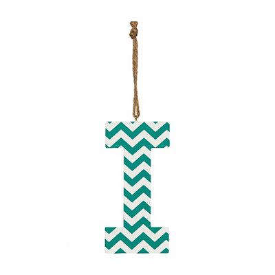 Turquoise Chevron Monogram I Hanging Letter