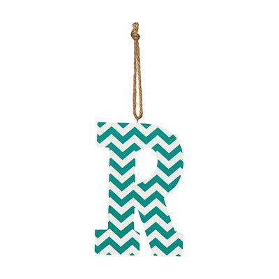 Turquoise Chevron Monogram R Hanging Letter