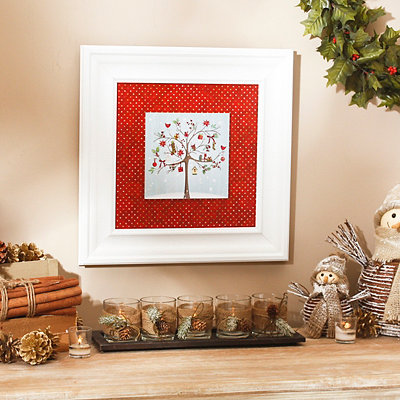 Glitter Gift Tree Framed Art Print
