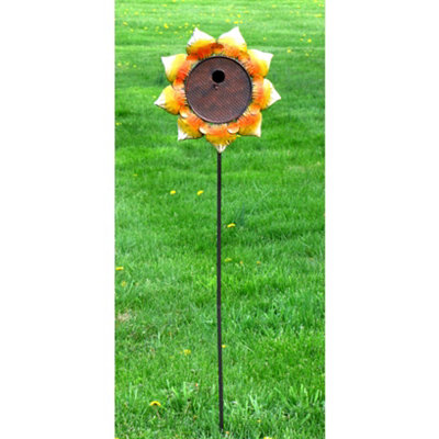 Sunflower Birdhouse Stake