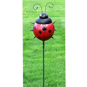 Ladybug Birdhouse Stake