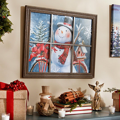 Happy Snowman Framed Art Print