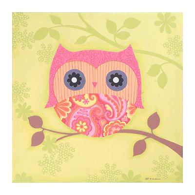 Miss Owl Canvas Art Print