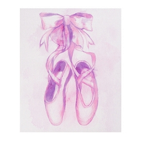 Purple Ballerina Slippers Canvas Art Print