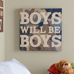 Boys Will Be Boys Canvas Art Print