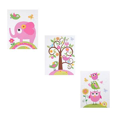 Cute & Cuddly Animals Canvas Art Prints, Set of 3