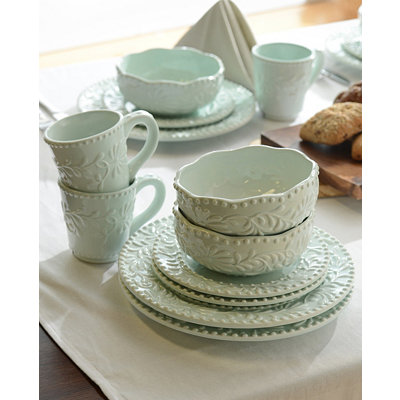 Bianca Blue Leaf Dinnerware Set