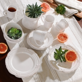 Victoria White Dinnerware Set, 16-pc.