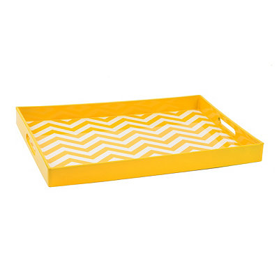 Yellow Chevron Tray