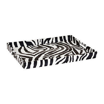 Zebra Print Tray