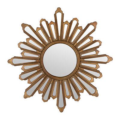 Gold Starburst Mirror, 28 in.