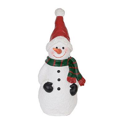 Jolly Snowman Outdoor Statue