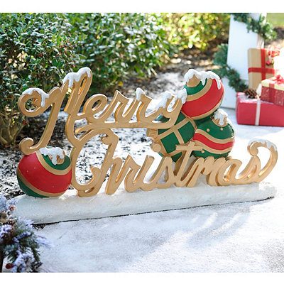 Merry Christmas Outdoor Statue