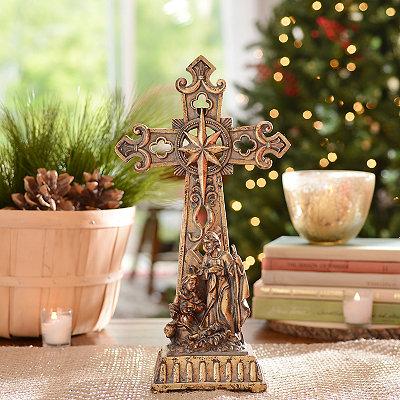 Holy Family Cross Statue