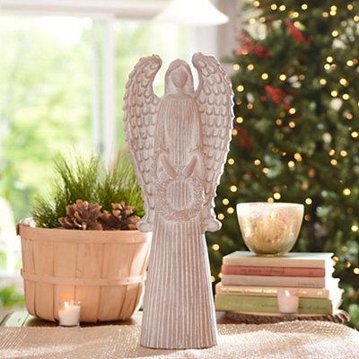 Distressed Ivory Angel Statue