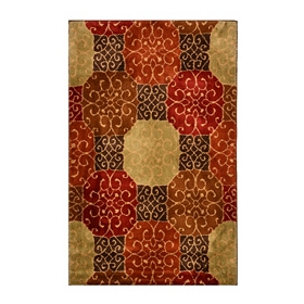 Scroll Medallion Area Rug, 5x8