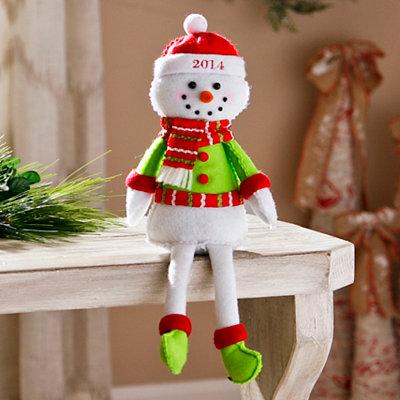 2014 Plush Boy Snowman