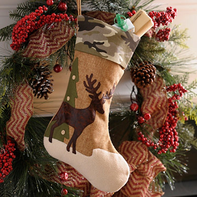 Camo Deer Christmas Stocking