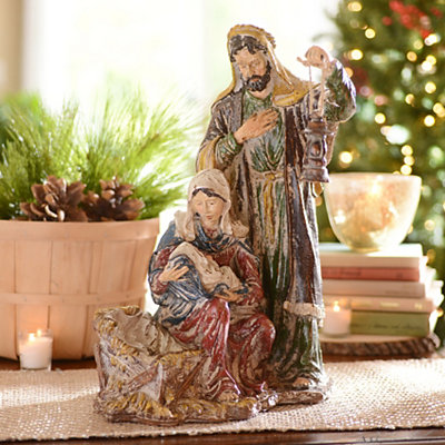 Vintage Holy Family Statue