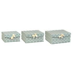Aqua Marais Floral Storage Boxes, Set of 3