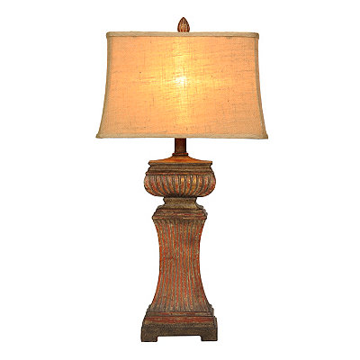 Antique Red Table Lamp